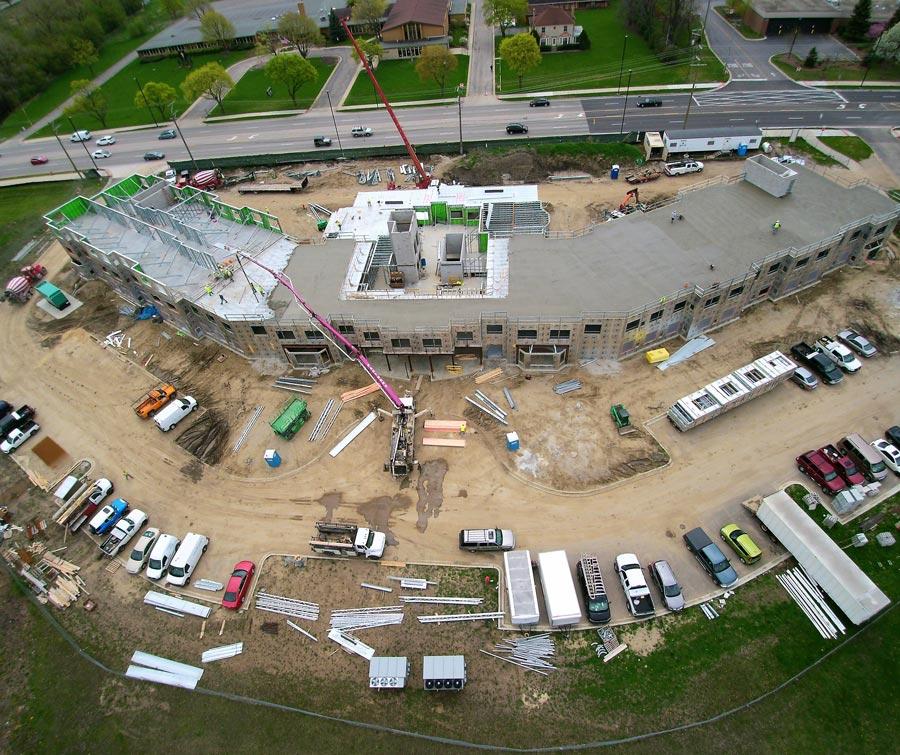 The-Whitley Senior center---cranes